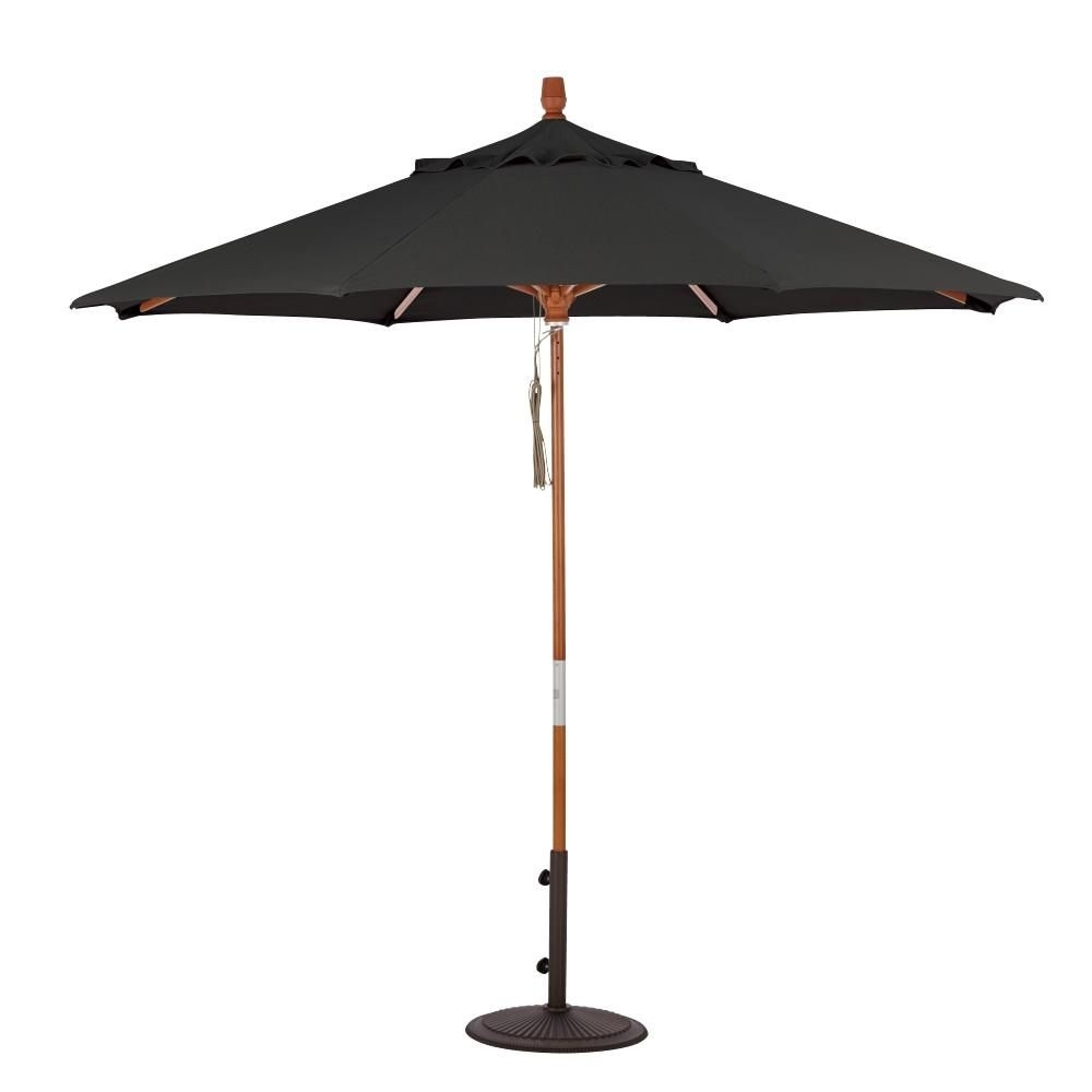 Sunbrella Black Patio Umbrellas With Most Current Home Decorators Collection 6 Ft (View 18 of 20)