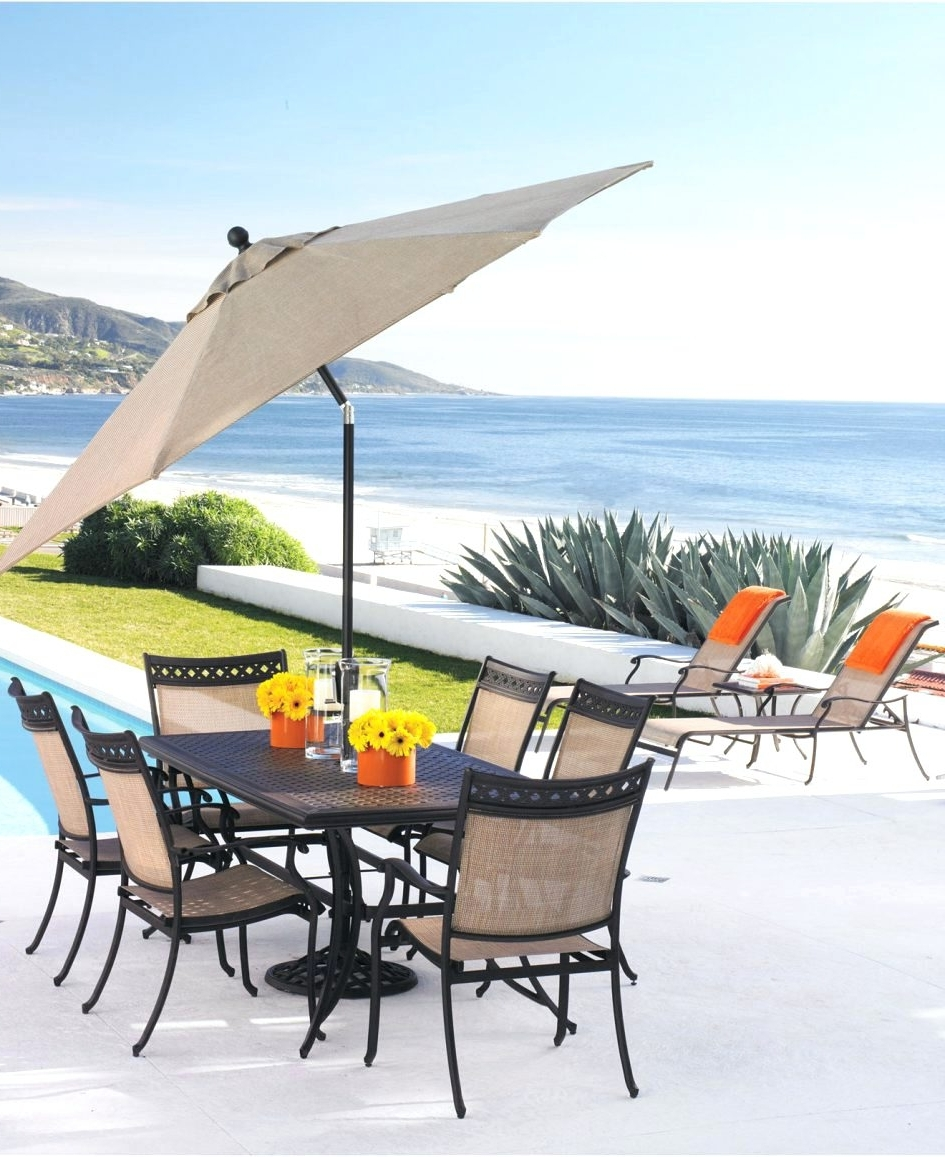 Sunbrella Patio Umbrellas At Walmart In Most Current Patio Ideas ~ Outdoor Patio Umbrellas Costco Offset Patio Umbrella (View 12 of 20)