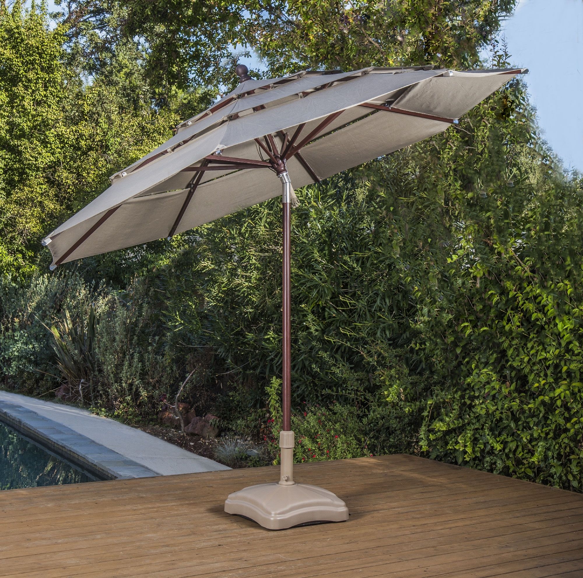 Sunbrella Patio Umbrellas With Solar Lights Throughout Fashionable Proshade – Shade Umbrellas – Proshade® – Official Site‎ (View 13 of 20)
