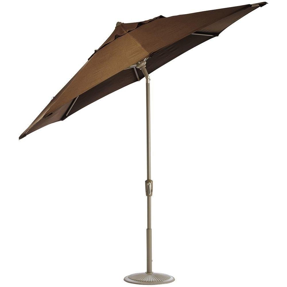 Sunbrella Teak Umbrellas Inside 2018 Home Decorators Collection 6 Ft (View 18 of 20)