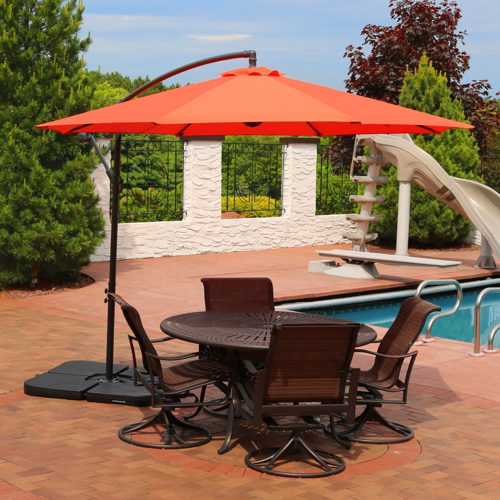 Sunnydaze Offset Patio Umbrella & Cantilever W/ Cross Base For Most Up To Date Offset Patio Umbrellas (View 17 of 20)