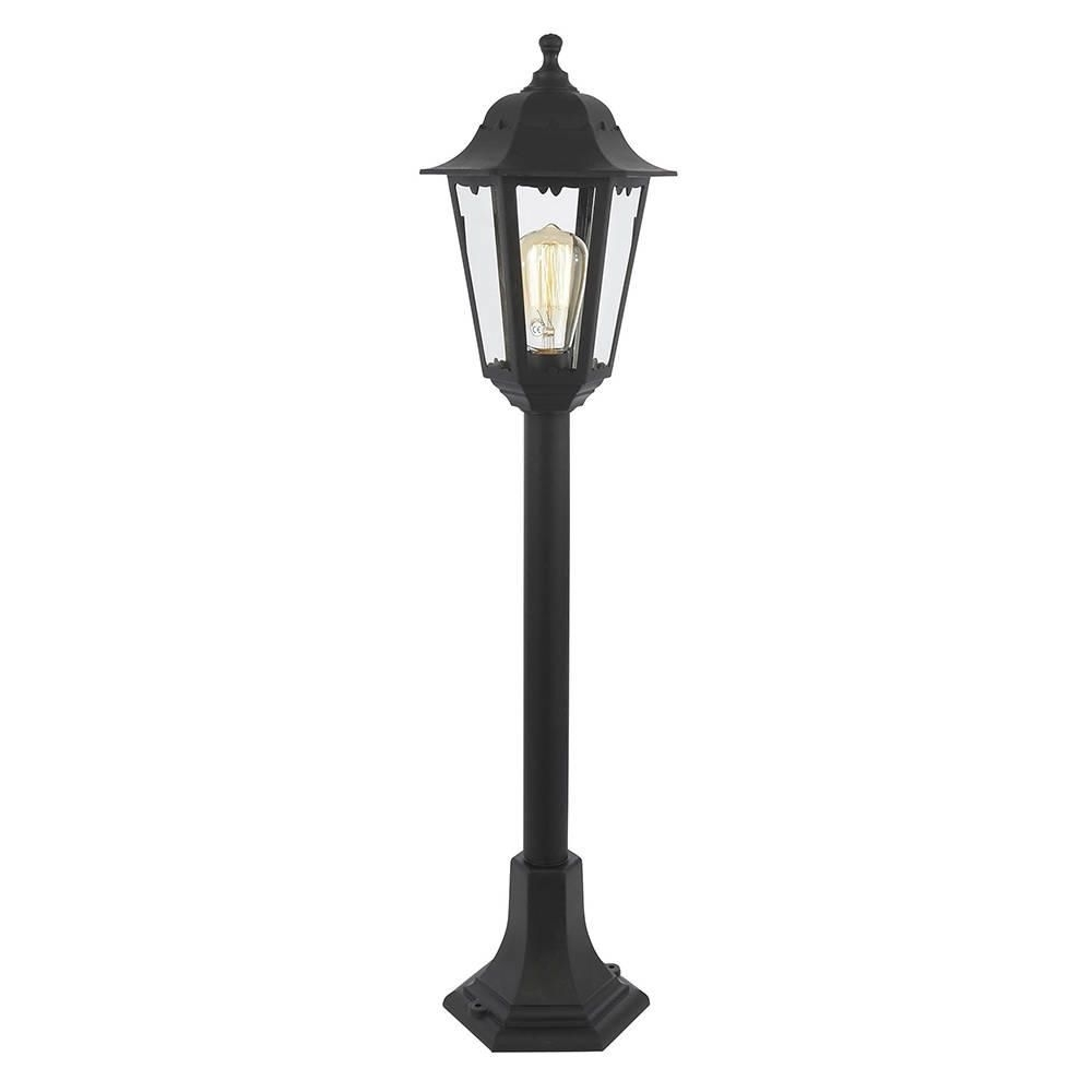 Tall Outdoor Lanterns For Most Up To Date Neri Outdoor Polycarbonate Lamp Post Lantern – Black From Litecraft (View 19 of 20)