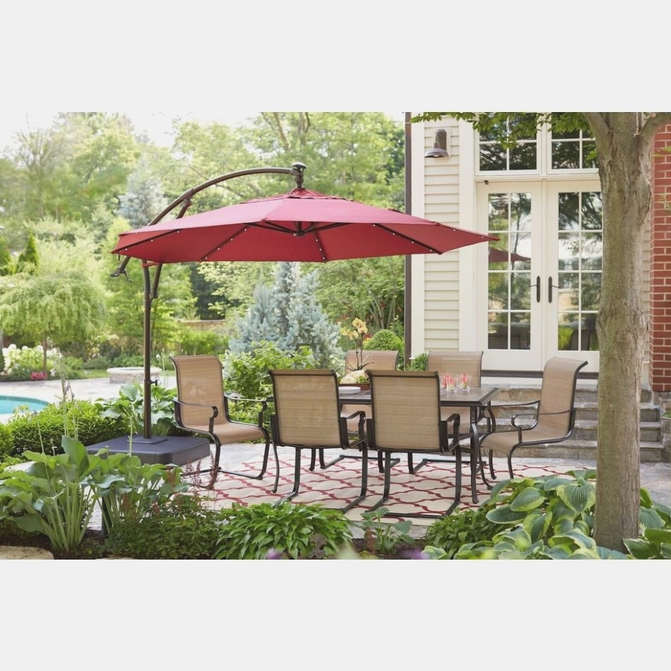 Ten Thoughts You Have As 36 Ft Solar Offset Patio Umbrella With Regard To Current Coral Coast Offset Patio Umbrellas (View 18 of 20)