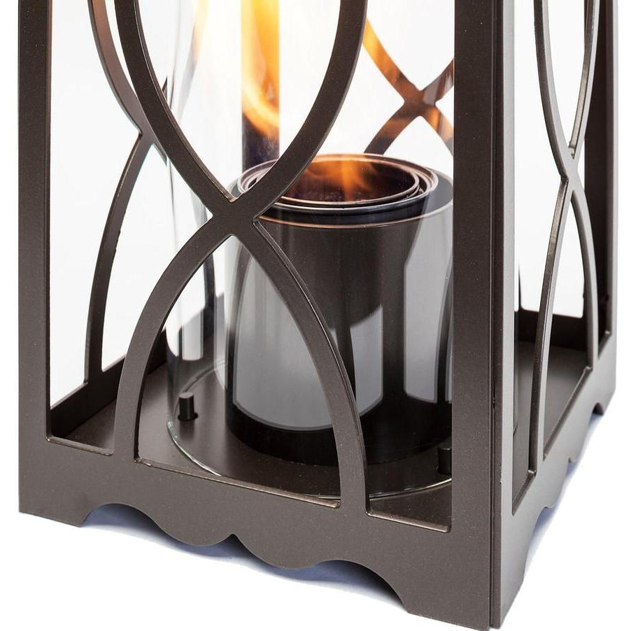 Terra Flame Georgian 20 Inch Gel Lantern – Classic Bronze : Ultimate Intended For Well Known Outdoor Gel Lanterns (View 16 of 20)