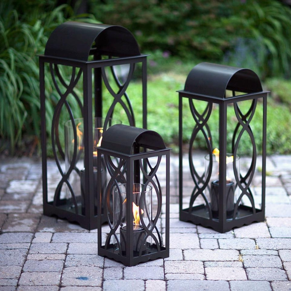 Terra Flame Georgian 20 Inch Gel Lantern – Classic Bronze : Ultimate With Regard To Famous Outdoor Gel Lanterns (View 17 of 20)