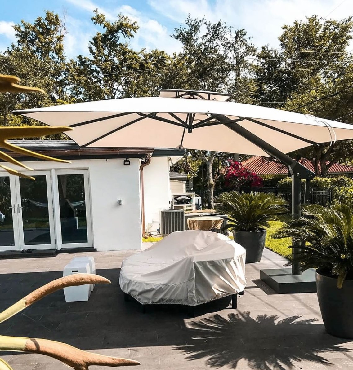 The Complete Buyers Guide For Large Patio Umbrellas – Poggesi Usa In Most Up To Date Large Patio Umbrellas (View 2 of 20)