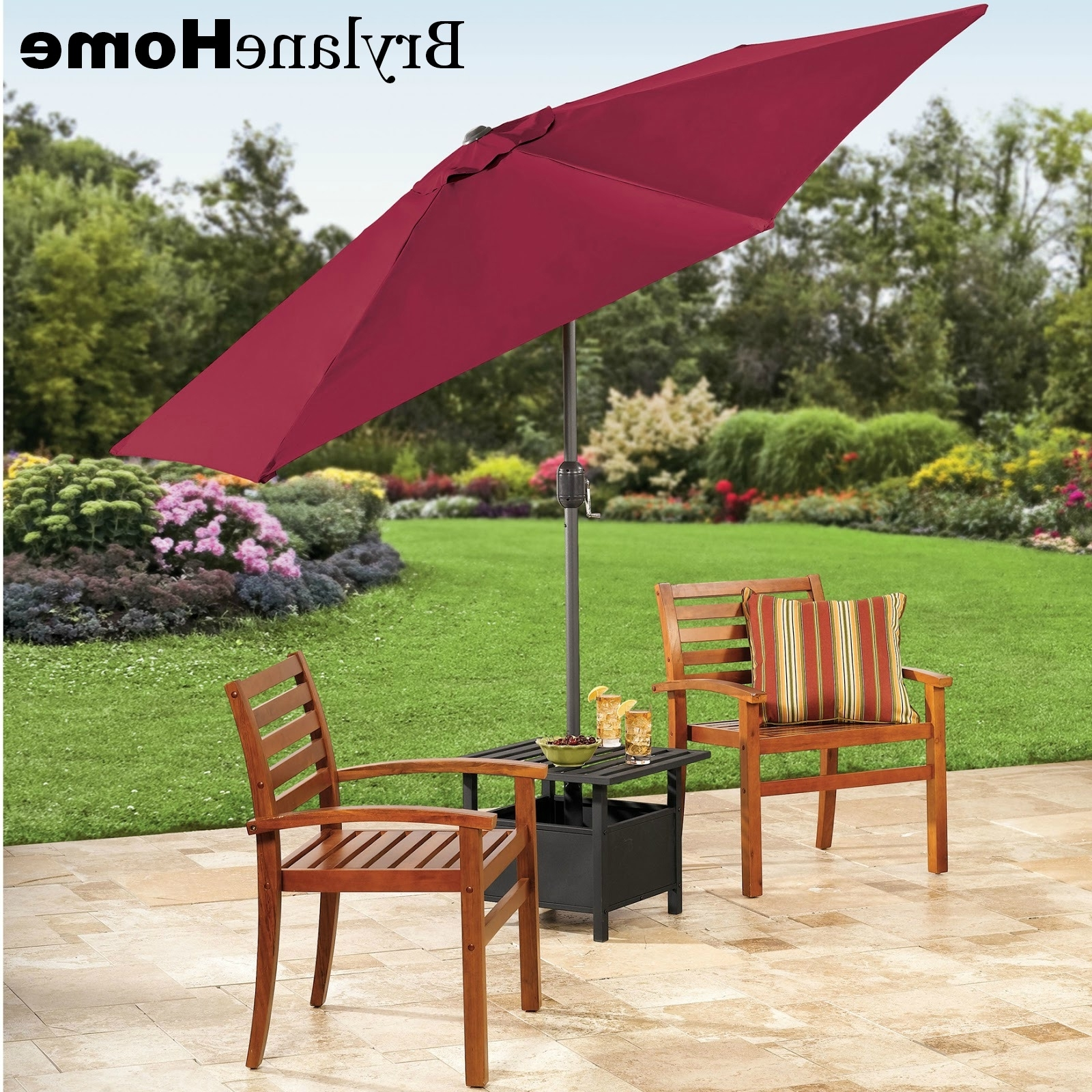 The Funky Monkey: Giveaway: Brylanehome 9' Patio Umbrella And With Trendy Patio Umbrella Side Tables (View 6 of 20)