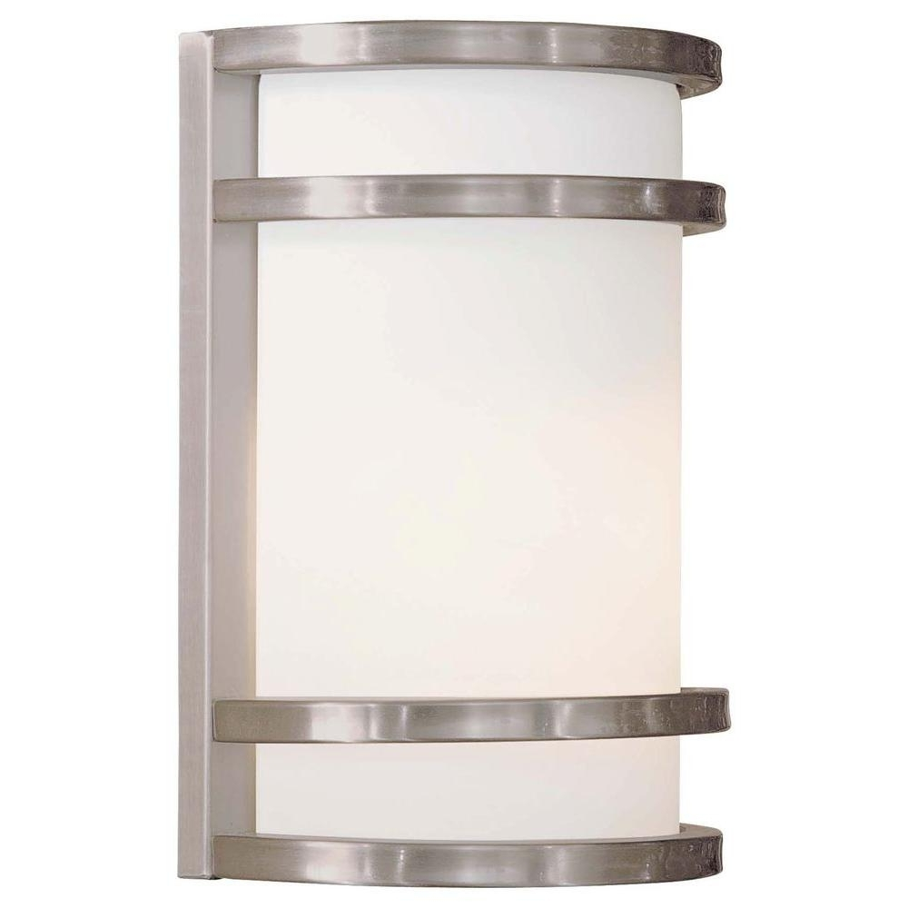 The Great Outdoorsminka Lavery Bay View 1 Light Brushed With Most Popular Modern Outdoor Lanterns (View 16 of 20)