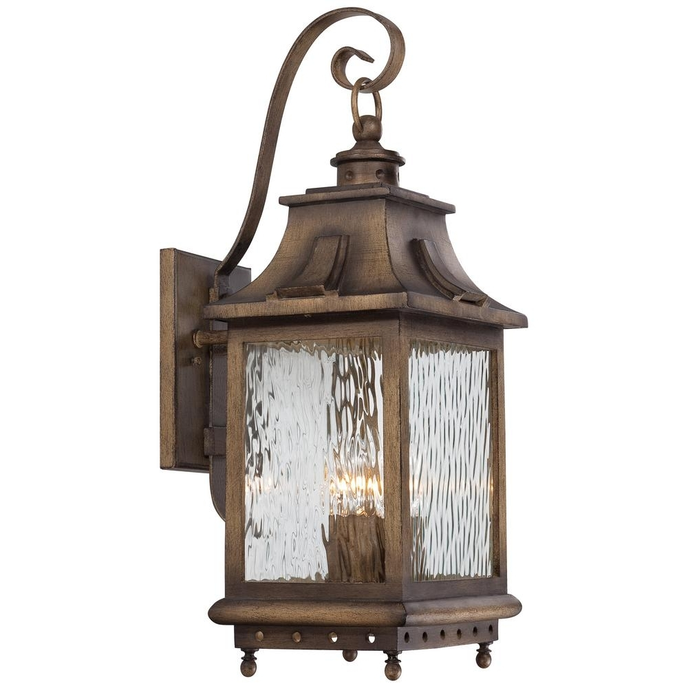 The Great Outdoorsminka Lavery Wilshire Park 4 Light Portsmouth In Newest Set Of 3 Outdoor Lanterns (View 18 of 20)
