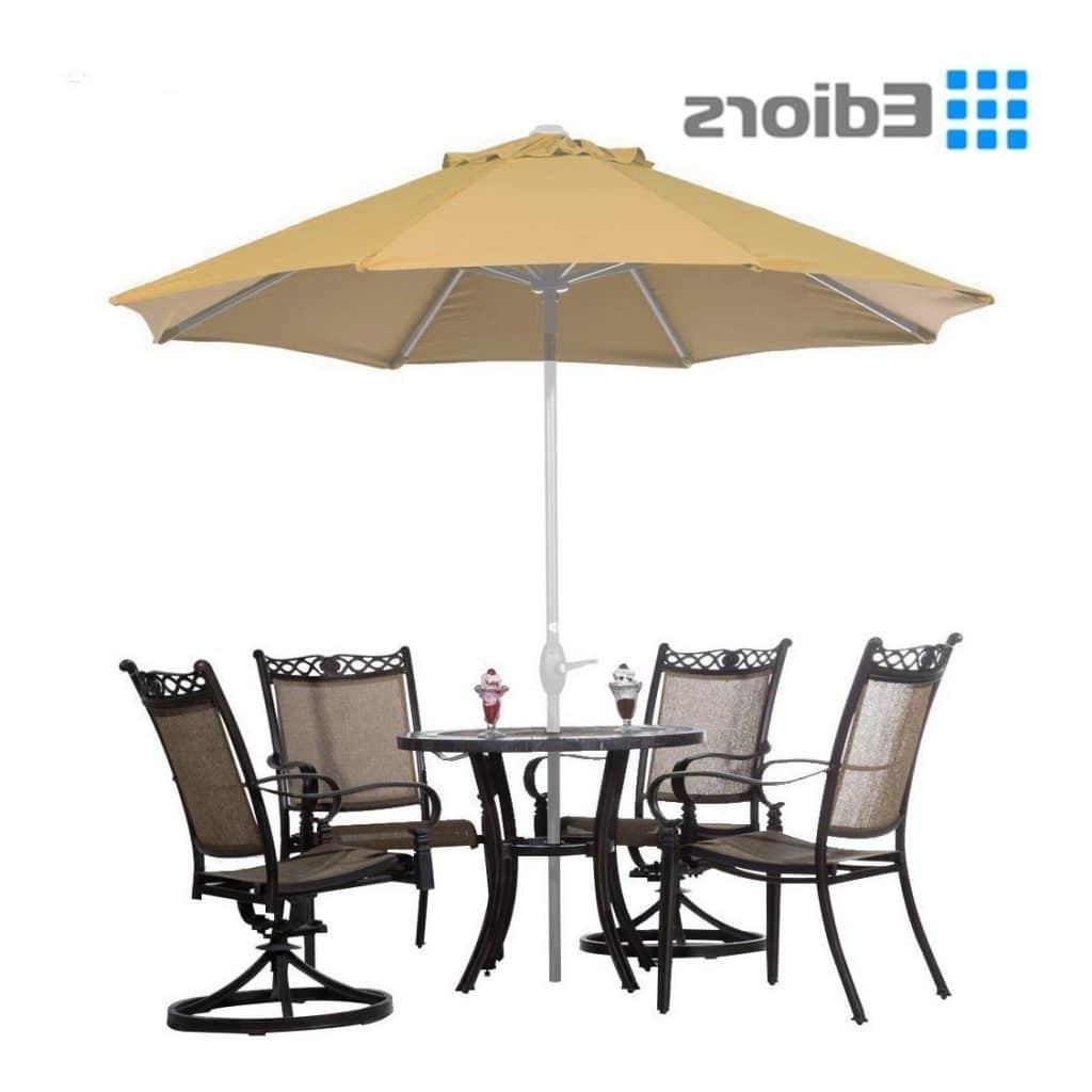 Top 15 Best Offset Patio Umbrellas 2018 – Buyer's Guide (September In Fashionable Deluxe Patio Umbrellas (View 20 of 20)