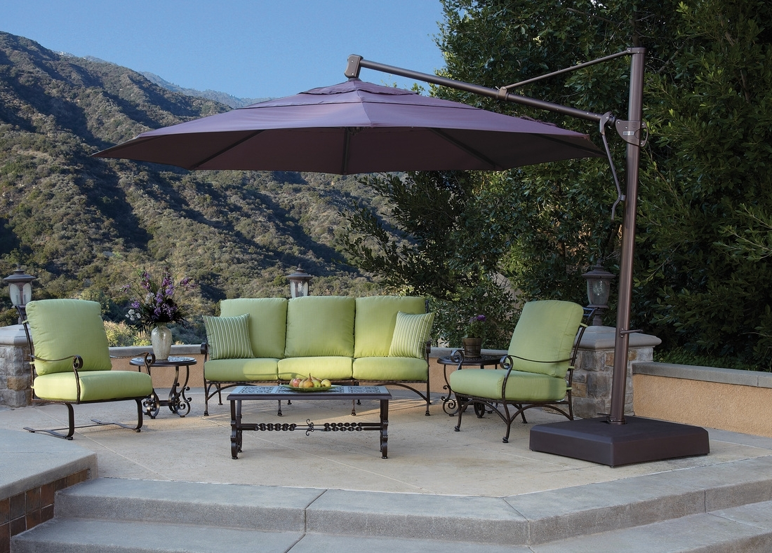 Top Large Patio Umbrellas — Wilson Home Ideas : Stylish Large Patio Inside Best And Newest Large Patio Umbrellas (View 5 of 20)