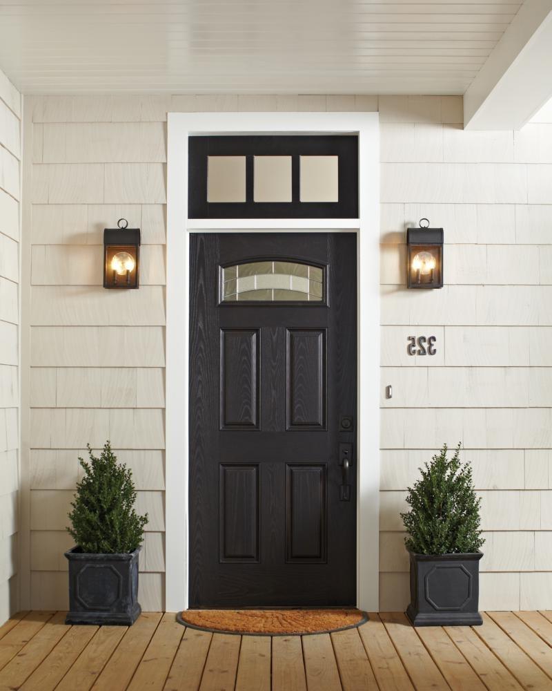 Trendy 8514801En 12,one Light Outdoor Wall Lantern,black Regarding Outdoor House Lanterns (View 12 of 20)