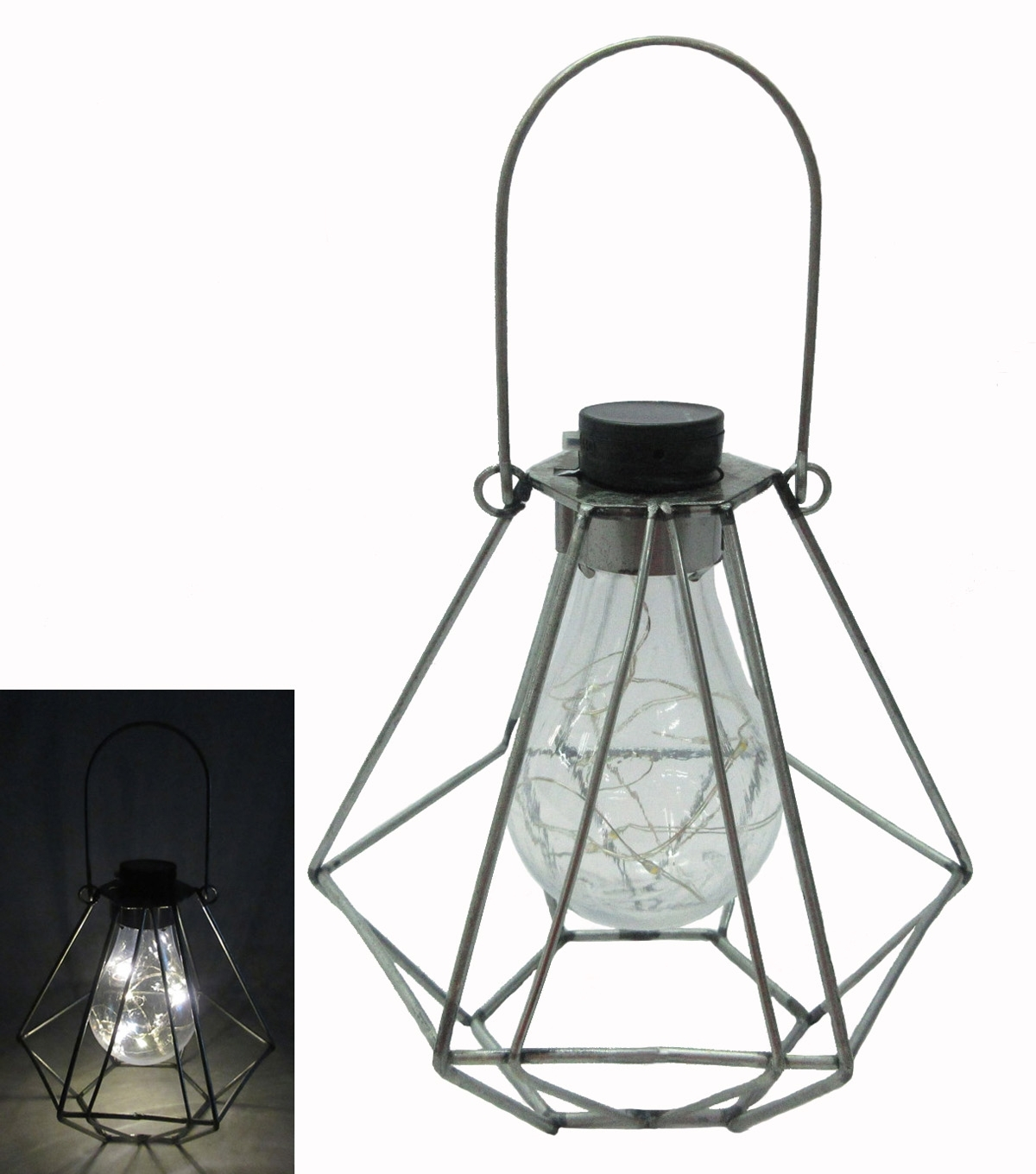 Trendy Americana Patriotic Galvanized Solar Light (View 7 of 20)