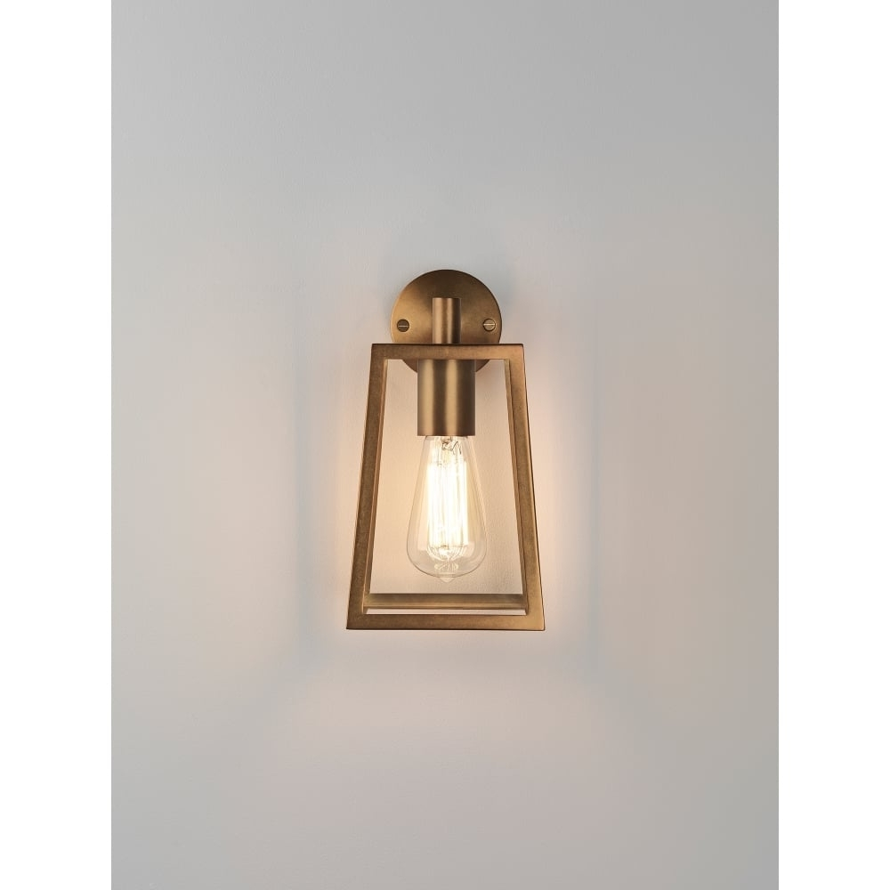 Trendy Astro Lighting Calvi Single Light Outdoor Wall Fitting In Antique With Regard To Brass Outdoor Lanterns (View 18 of 20)