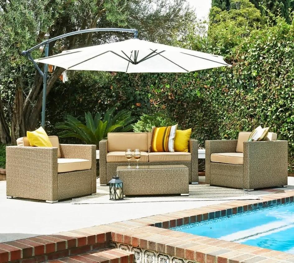 Trendy Heavy Duty Patio Umbrellas Inside Supple Macys Outdoor Furniture Large Brown Patio Umbrella Metal (View 9 of 20)