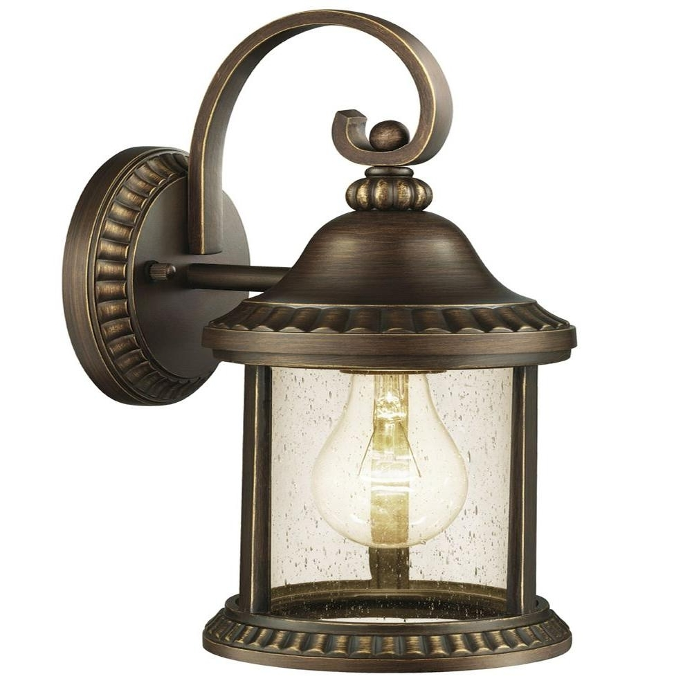 Trendy Home Depot Outdoor Lanterns With Home Decorators Collection Cambridge Outdoor Essex Bronze Medium (View 19 of 20)