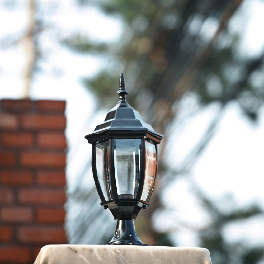 Trendy Homestia 1Pc 85V 280V Pillar Fence Lights Outdoor Lamp Post Cap In Outdoor Lanterns For Pillars (View 19 of 20)