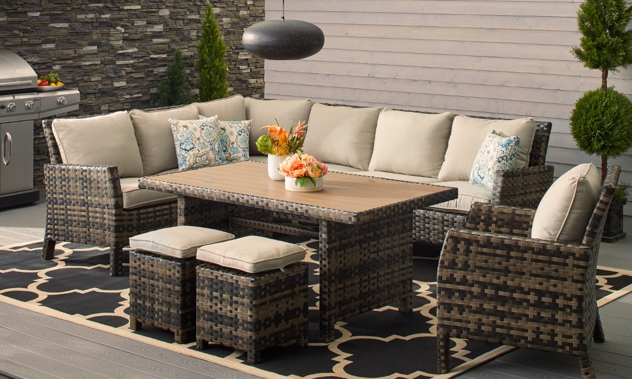 Trendy How To Choose Patio Furniture For Small Spaces – Overstock With Small Patio Umbrellas (View 19 of 20)