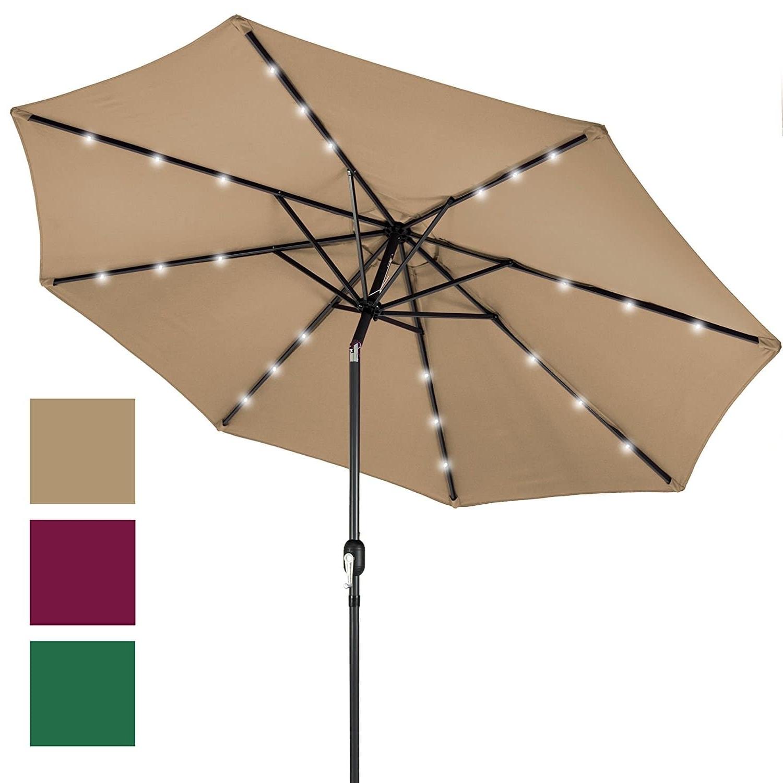 Trendy Lighted Patio Umbrellas Within Top 10 Best Patio Umbrellas In 2018 – Topreviewproducts (View 15 of 20)