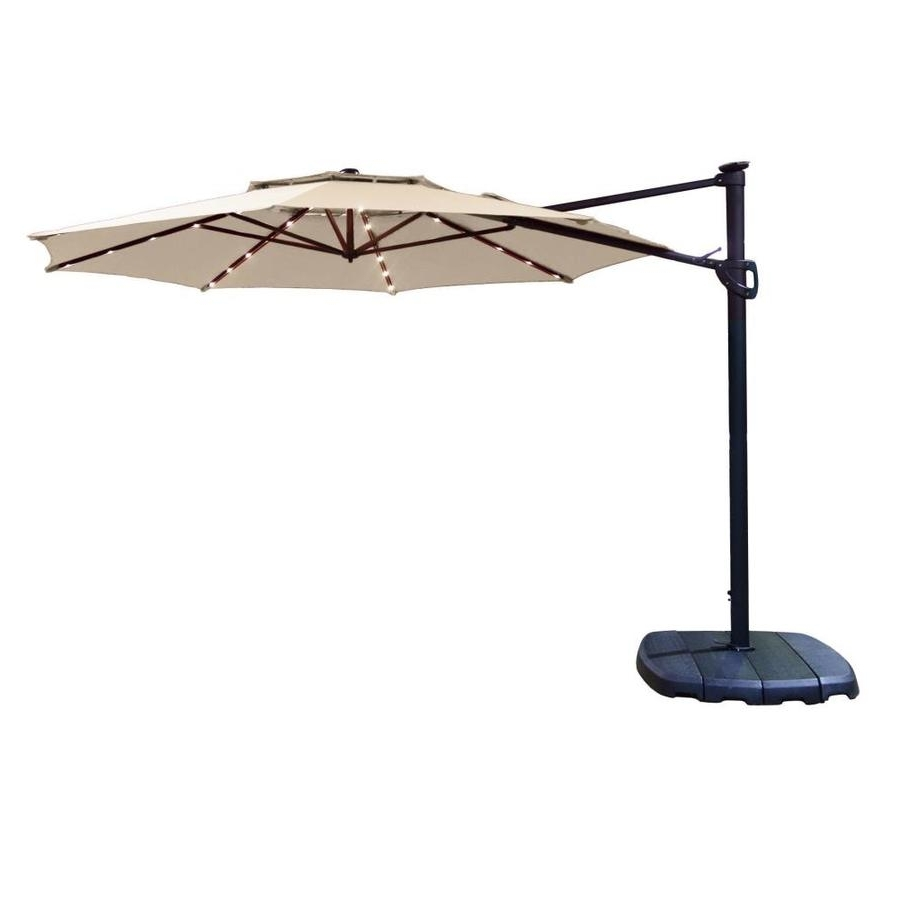 Trendy Offset Cantilever Patio Umbrellas Throughout Shop Simply Shade Cantilever Umbrella Tan Offset Pre Lit 11 Ft Patio (View 20 of 20)