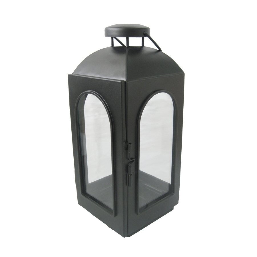 Trendy Outdoor Lanterns And Votives Regarding Shop Allen + Roth 11 In H Black Metal Votive Candle Outdoor (View 18 of 20)