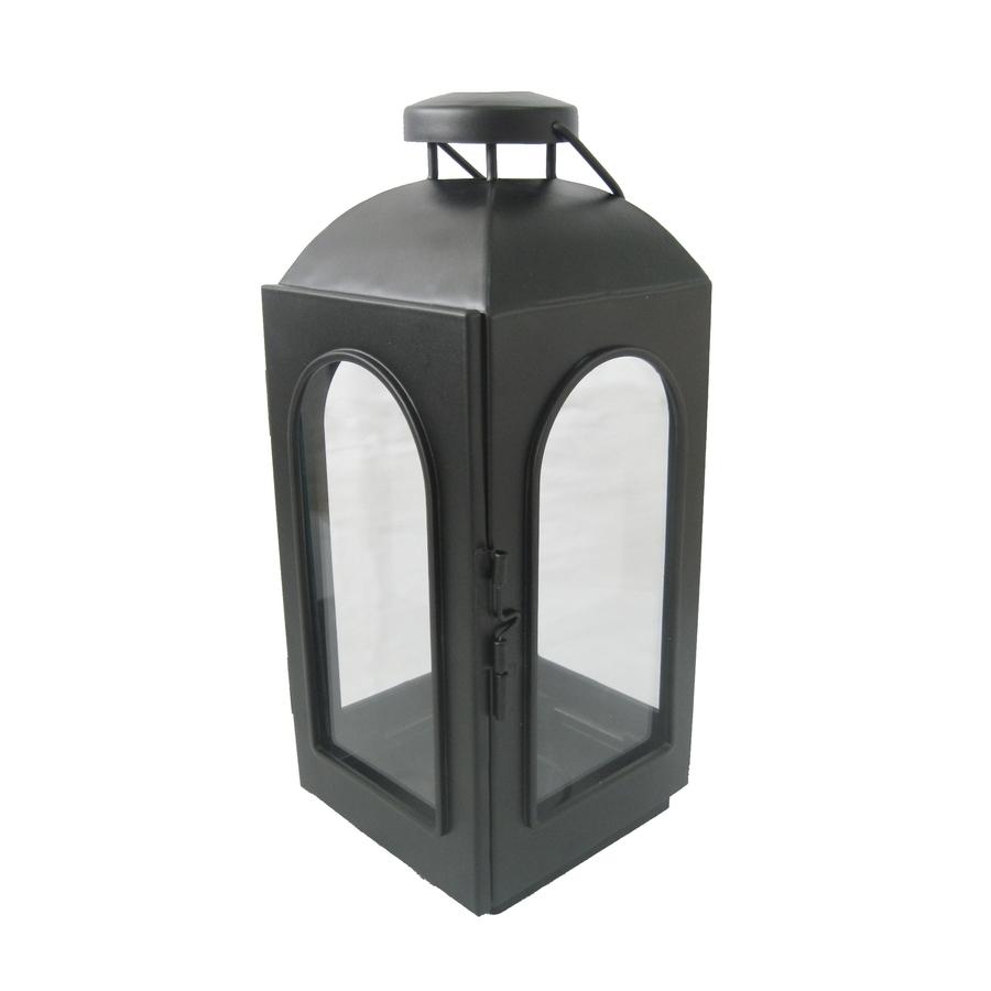 Trendy Outdoor Lanterns And Votives Regarding Shop Allen + Roth 11 In H Black Metal Votive Candle Outdoor (View 19 of 20)