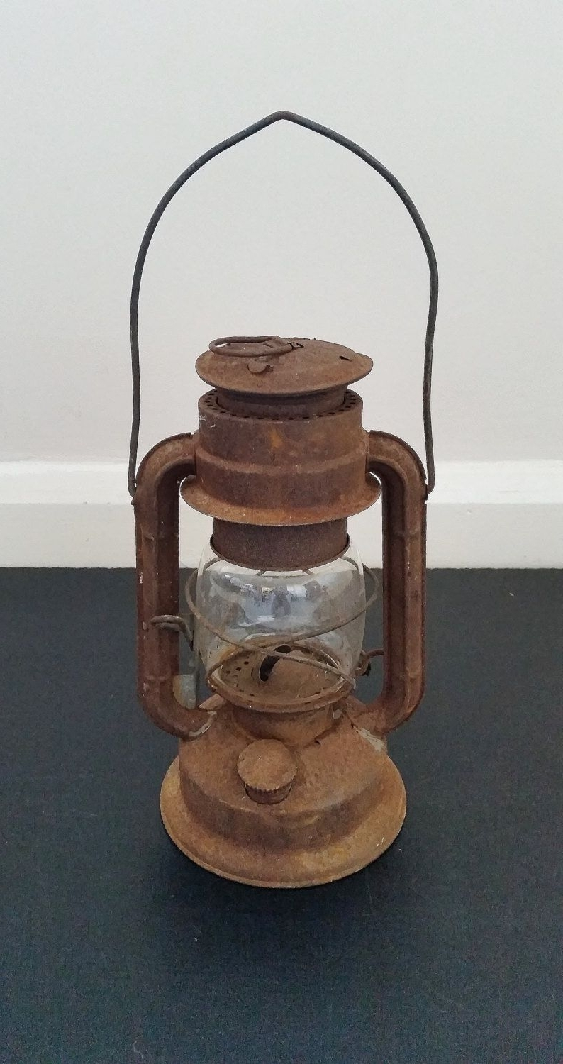 Trendy Outdoor Oil Lanterns For Patio Throughout Vintage Oil Lantern, Hanging Lamp, Old Kerosene Light, Rustic (View 11 of 20)