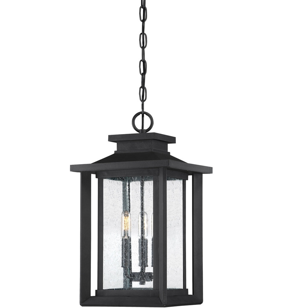 Trendy Quoizel – Wkf1911Ek – Wakefield Earth Black Outdoor Hanging Lantern In Quoizel Outdoor Lanterns (View 18 of 20)