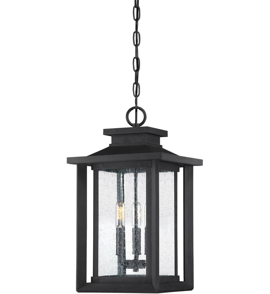 Trendy Quoizel – Wkf1911Ek – Wakefield Earth Black Outdoor Hanging Lantern In Quoizel Outdoor Lanterns (View 18 of 20)