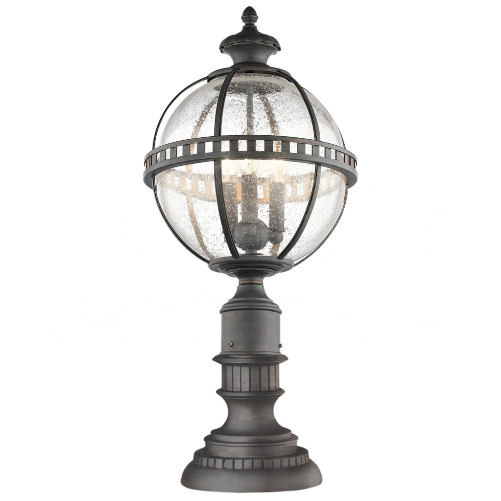 Trendy Victorian Outdoor Lanterns Intended For Victorian Globe Style Exterior Pedestal Lantern In Londonderry Finish (View 14 of 20)