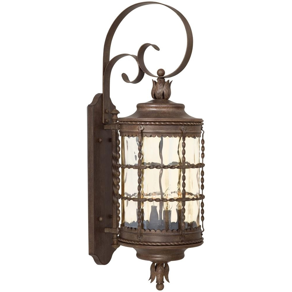 Trendy Vintage Outdoor Lanterns In The Great Outdoorsminka Lavery Mallorca 4 Light Vintage Rust (View 3 of 20)