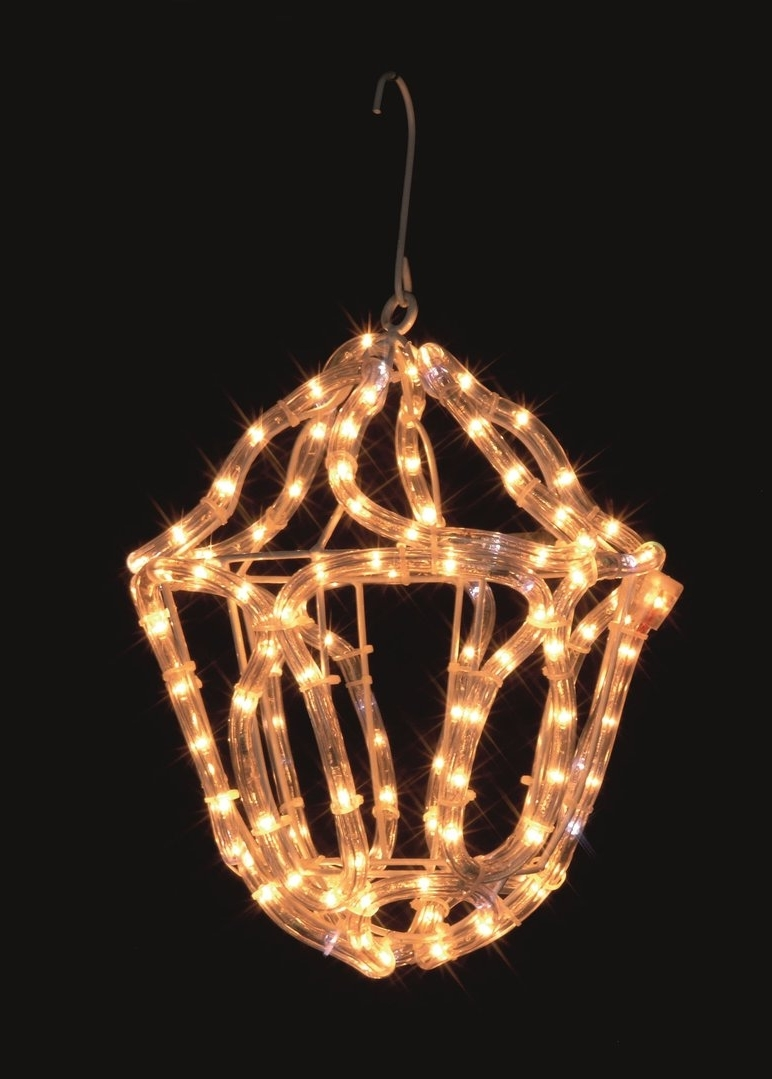 Uk Gardens Christmas Warm White Rope Light Lantern Indoor Or Outdoor Regarding Fashionable Outdoor Christmas Rope Lanterns (View 2 of 20)