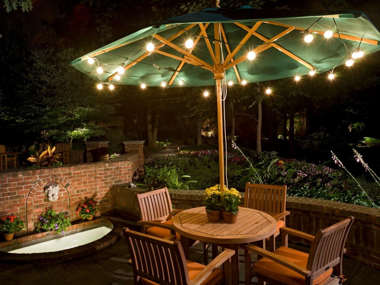 Umbrella Outdoor Landscape Lighting : Latest Trend In Outdoor Intended For Most Up To Date Outdoor Umbrella Lanterns (View 16 of 20)