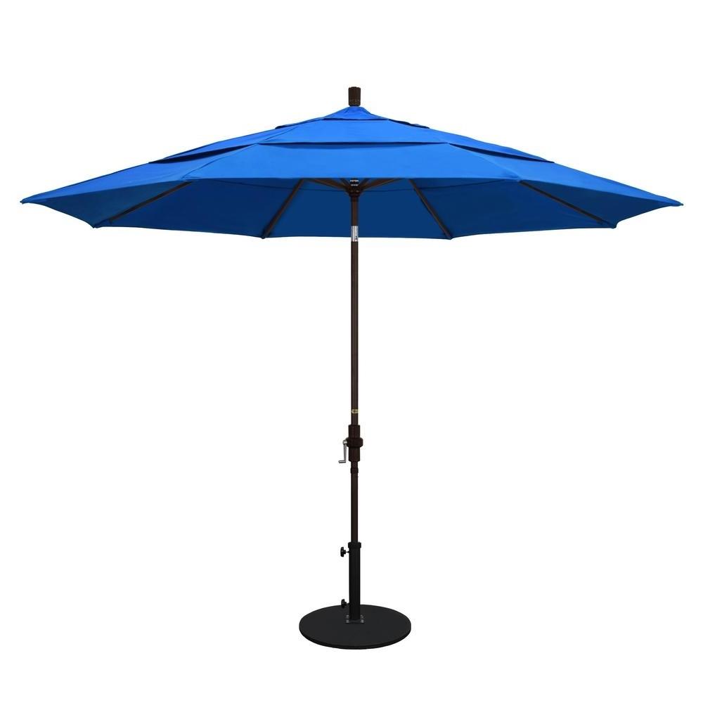 Vented Patio Umbrellas Intended For Favorite California Umbrella 11 Ft. Aluminum Collar Tilt Double Vented Patio (Gallery 1 of 20)