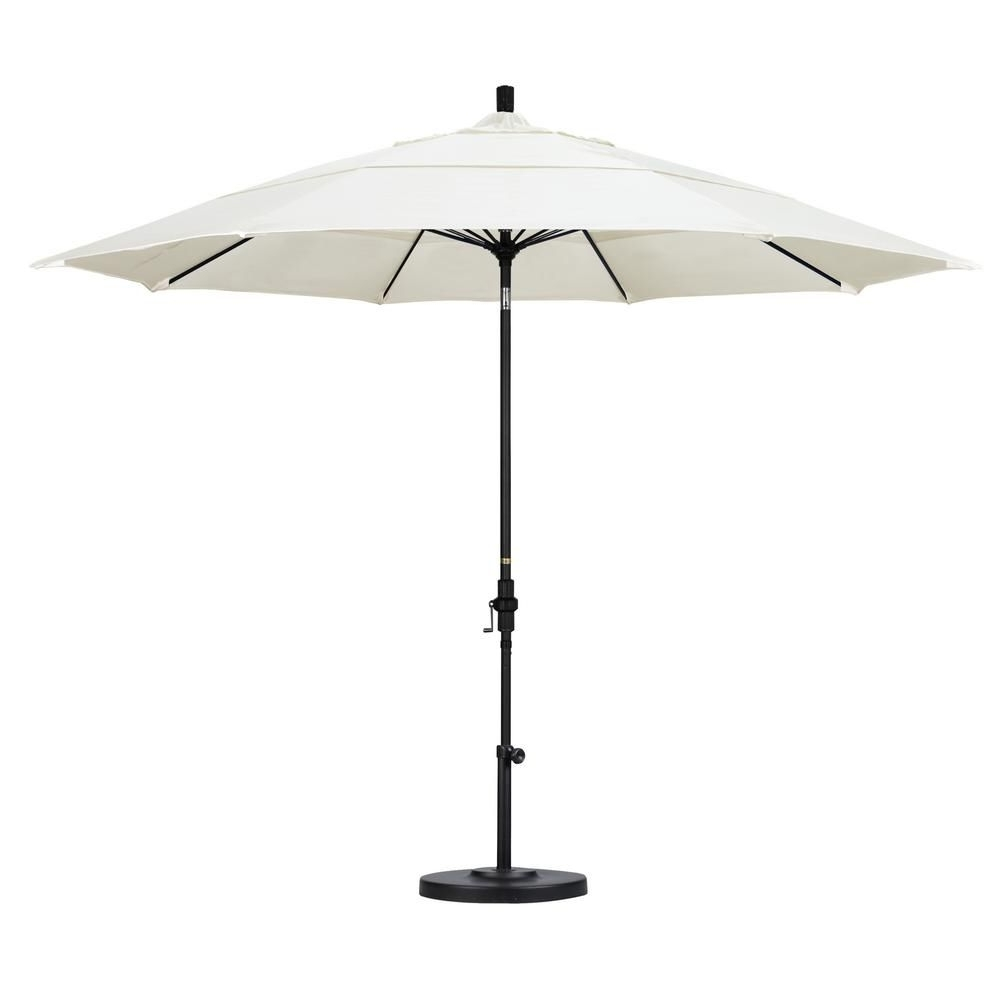 Vented Patio Umbrellas With Popular California Umbrella 11 Ft. Fiberglass Collar Tilt Double Vented (Gallery 11 of 20)
