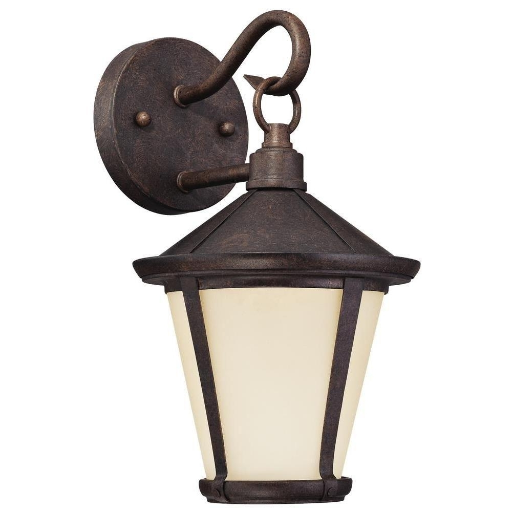 Victorian Outdoor Lanterns With Most Recently Released Westinghouse Darcy 1 Light Victorian Bronze Outdoor Led Wall Lantern (View 10 of 20)