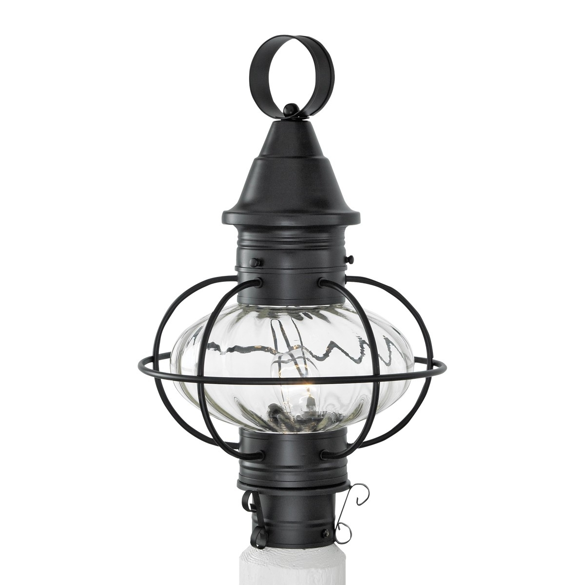 Vidalia Outdoor Glass Onion Post Light Pertaining To Favorite Outdoor Lighting Onion Lanterns (View 17 of 20)