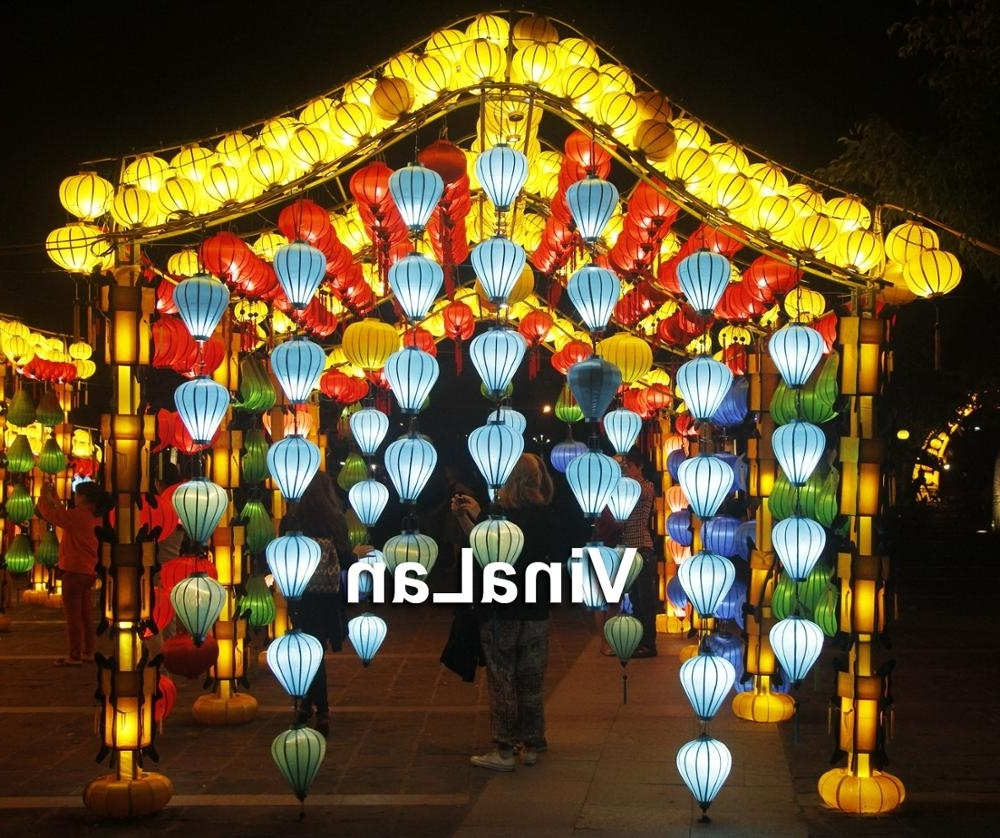 Vietnamese Lanterns For Outdoor Event Decorations – Lanterns For Regarding Trendy Outdoor Vietnamese Lanterns (Gallery 2 of 20)