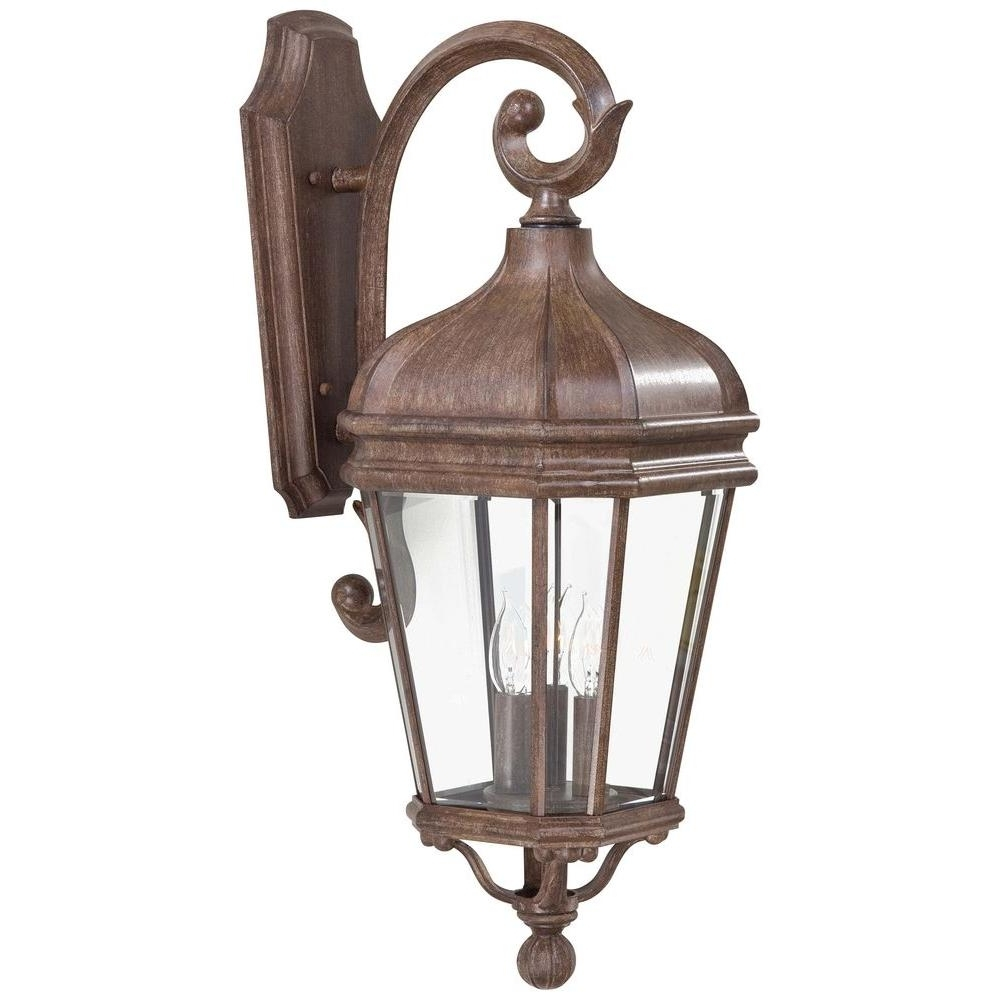 Vintage Outdoor Lanterns With Regard To Trendy The Great Outdoorsminka Lavery Harrison 3 Light Vintage Rust (View 16 of 20)