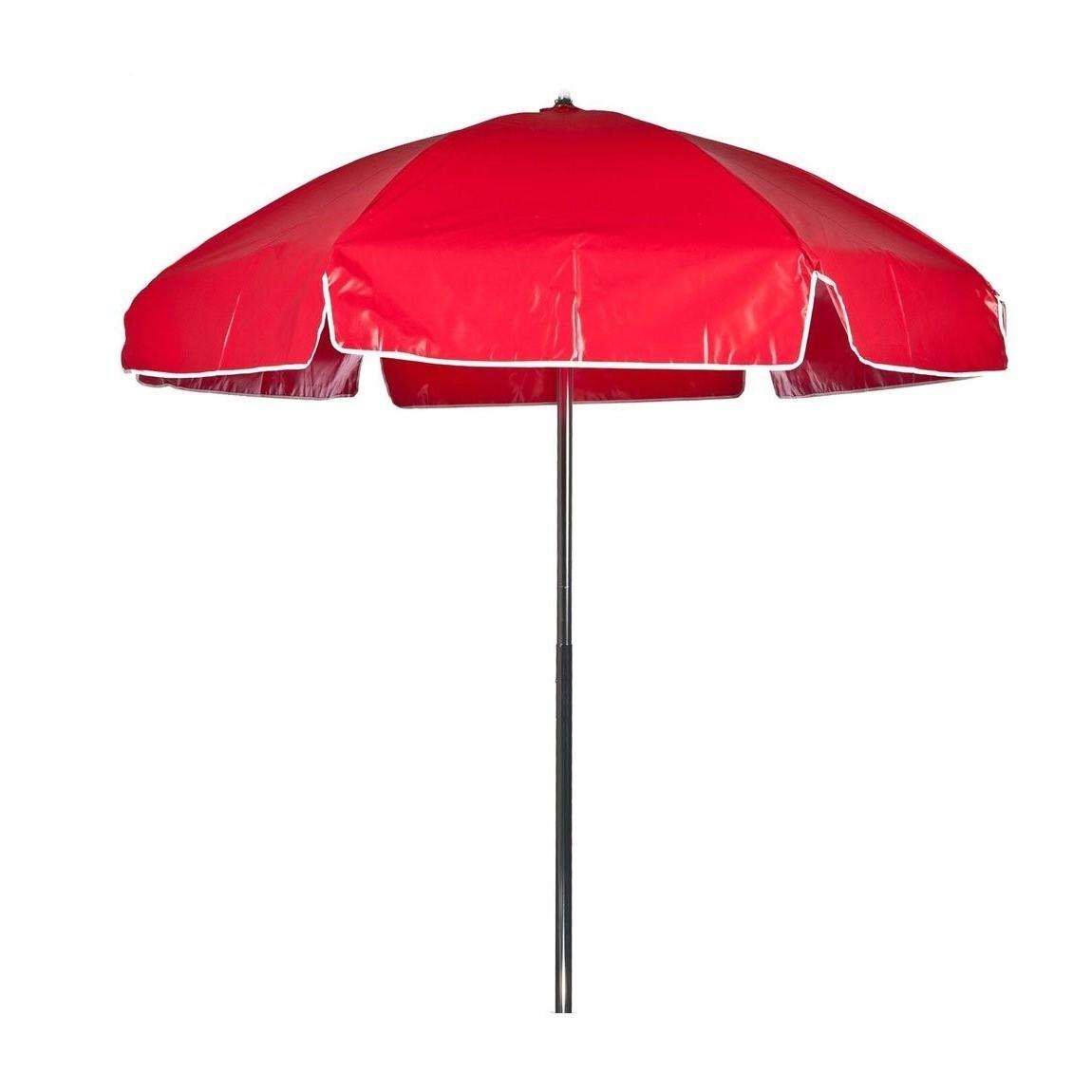 Vinyl Patio Umbrellas Throughout Preferred Red Vinyl Lifeguard Umbrella – Tilt Greateststores (Gallery 20 of 20)