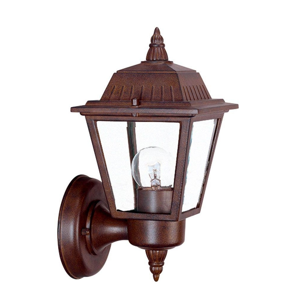 Wall Mounted Outdoor Lanterns In Fashionable Acclaim Lighting Builder's Choice Collection 1 Light Matte Black (View 5 of 20)