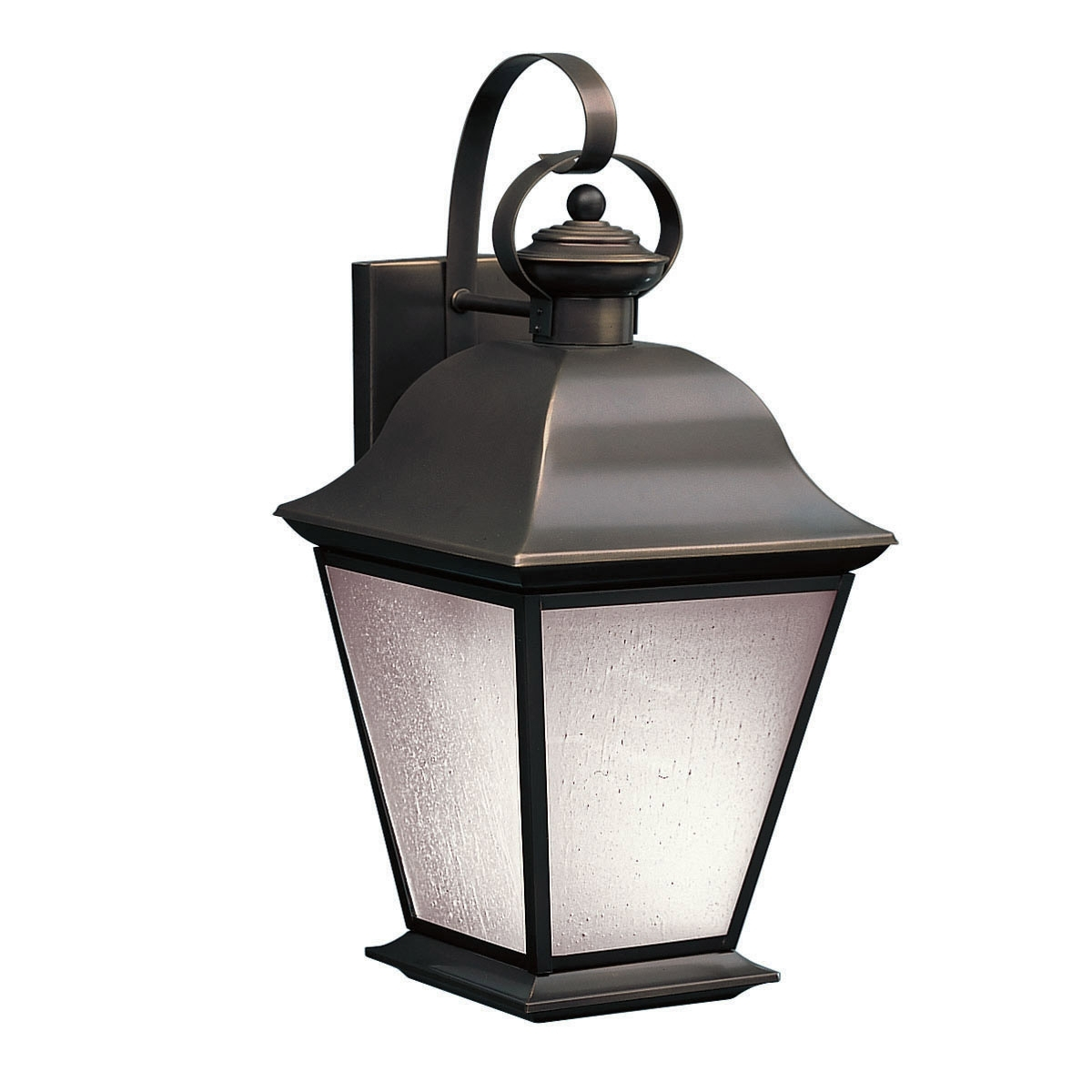 Wall Mounted Outdoor Lanterns Within Widely Used Kichler 10909oz Mount Vernon Energy Saver Exterior Wall Mount (View 6 of 20)