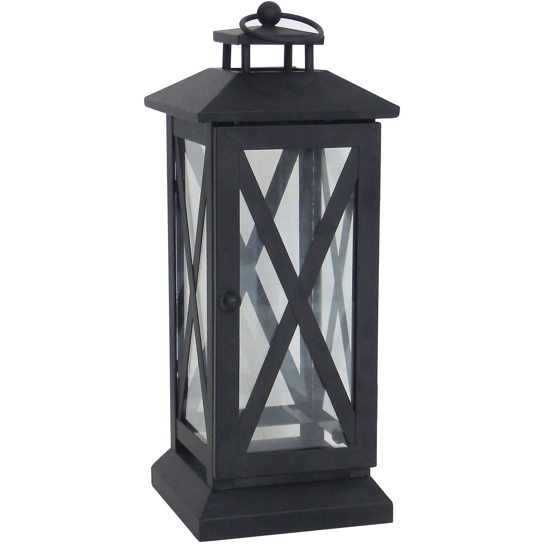 Walmart Outdoor Lanterns Inside 2018 Better Homes And Gardens Crossbar Metal Outdoor Lantern – Walmart (View 9 of 20)