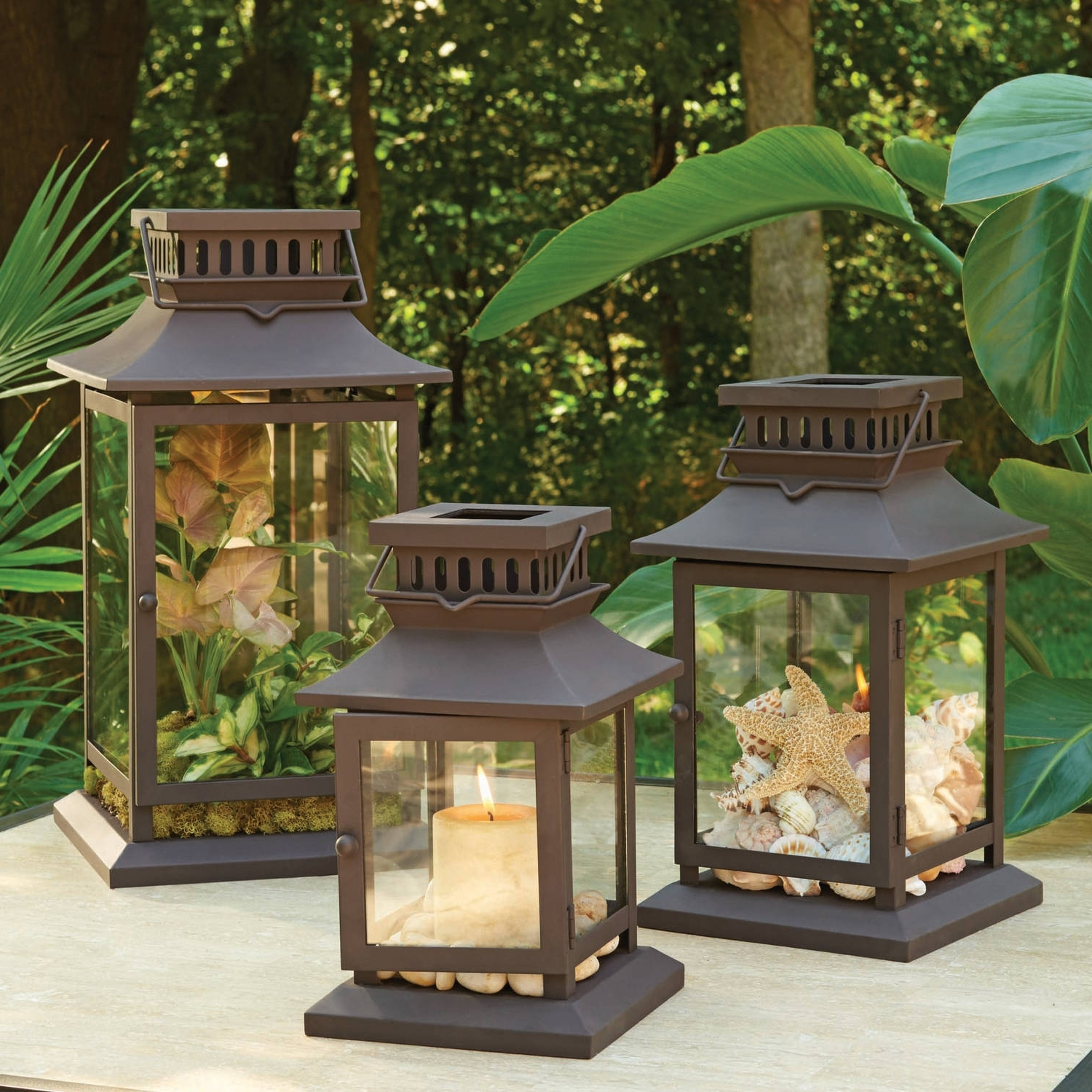 Walmart Outdoor Lanterns Inside Widely Used Better Homes And Gardens Square Metal Outdoor Lantern – Walmart (View 5 of 20)