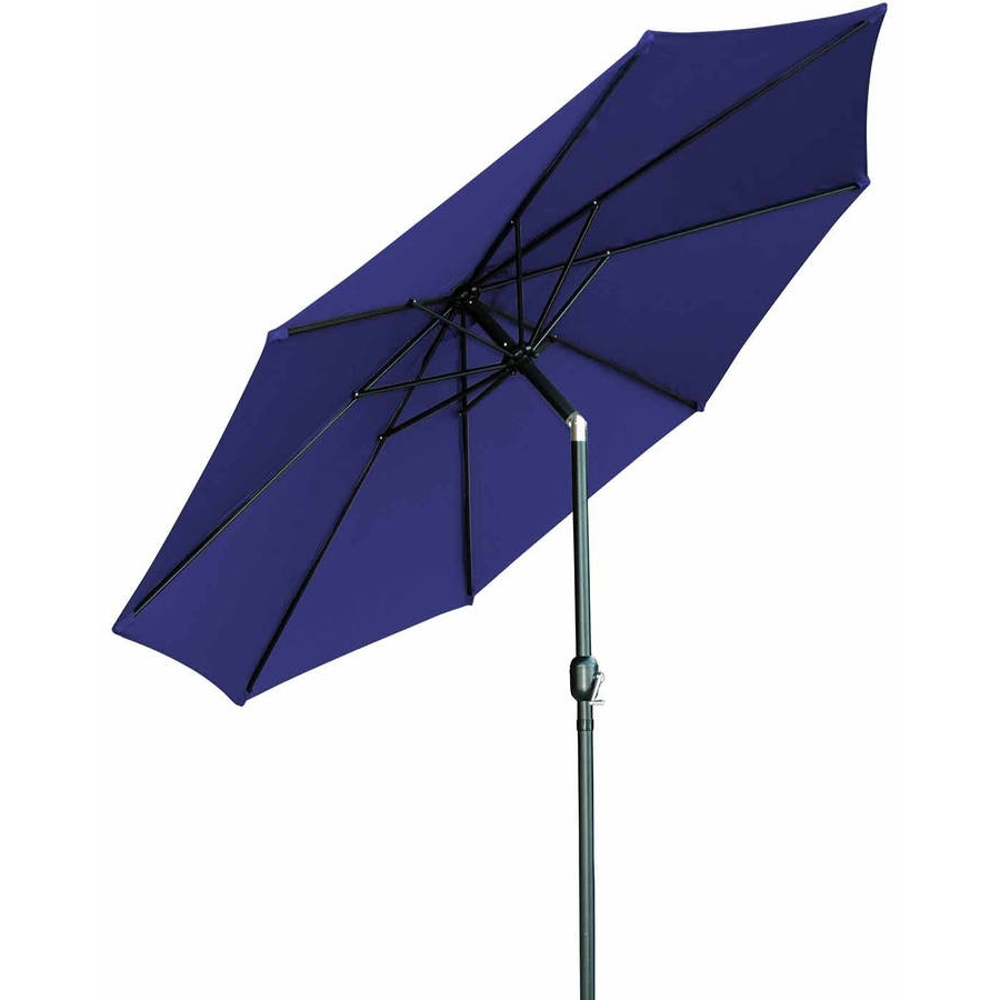 Walmart Umbrellas Patio In Well Liked Black Patio Umbrellas & Bases – Walmart (View 15 of 20)