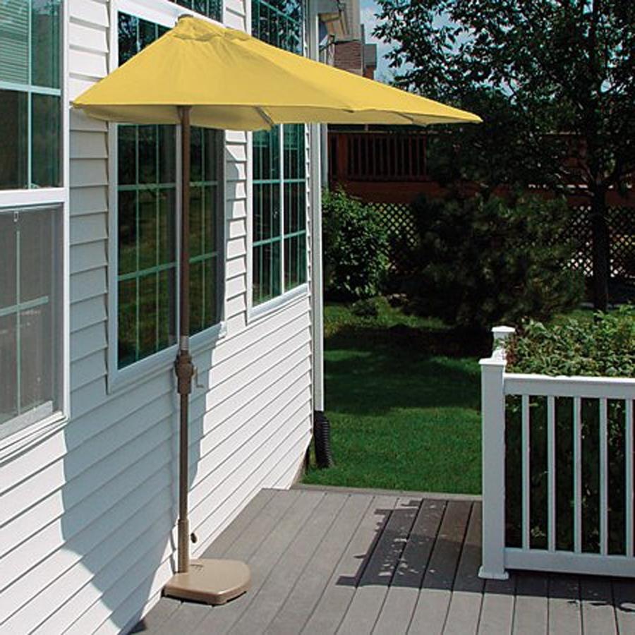 Wayfair Patio Umbrellas Pertaining To Most Popular Half Outdoor Umbrella Wayfair (View 11 of 20)