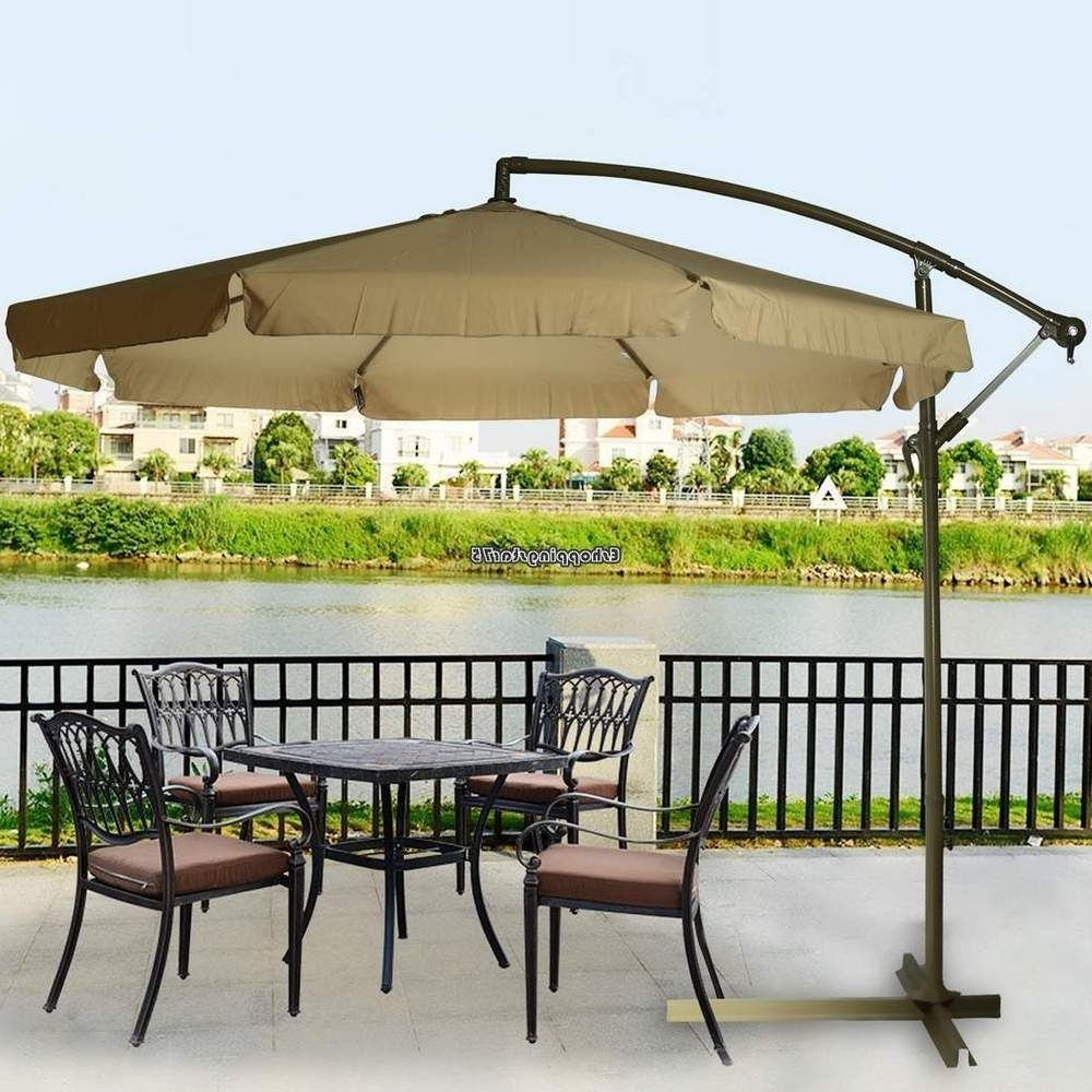 Well Known 9Ft Out Door Deck Patio Umbrella Off Set Tilt Cantilever Hanging Ca For Patio Deck Umbrellas (View 18 of 20)