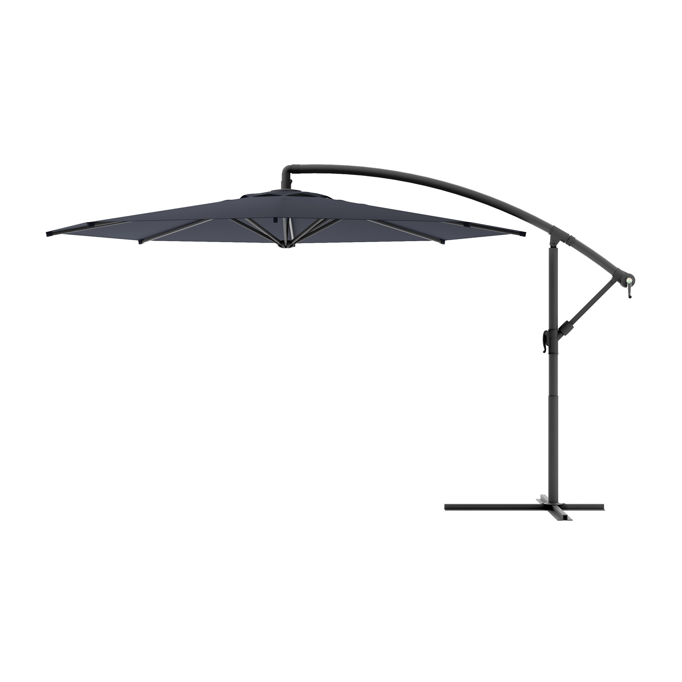 Well Known Black And White Patio Umbrellas For Corliving Ppu 4 Cantilever Patio Umbrella (View 18 of 20)