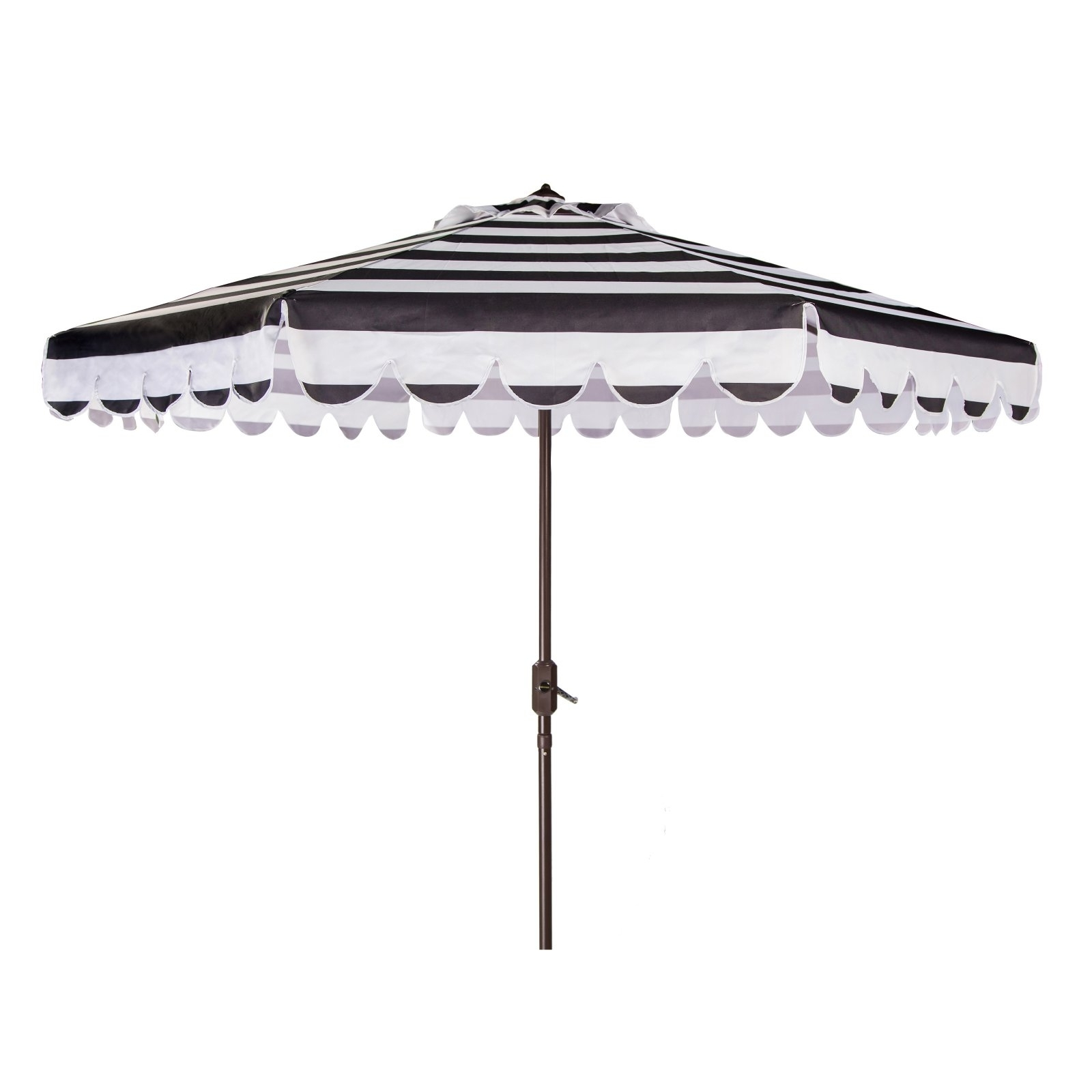 Well Known Black And White Patio Umbrellas Regarding White Scalloped Patio Umbrella • Patio Ideas (View 17 of 20)