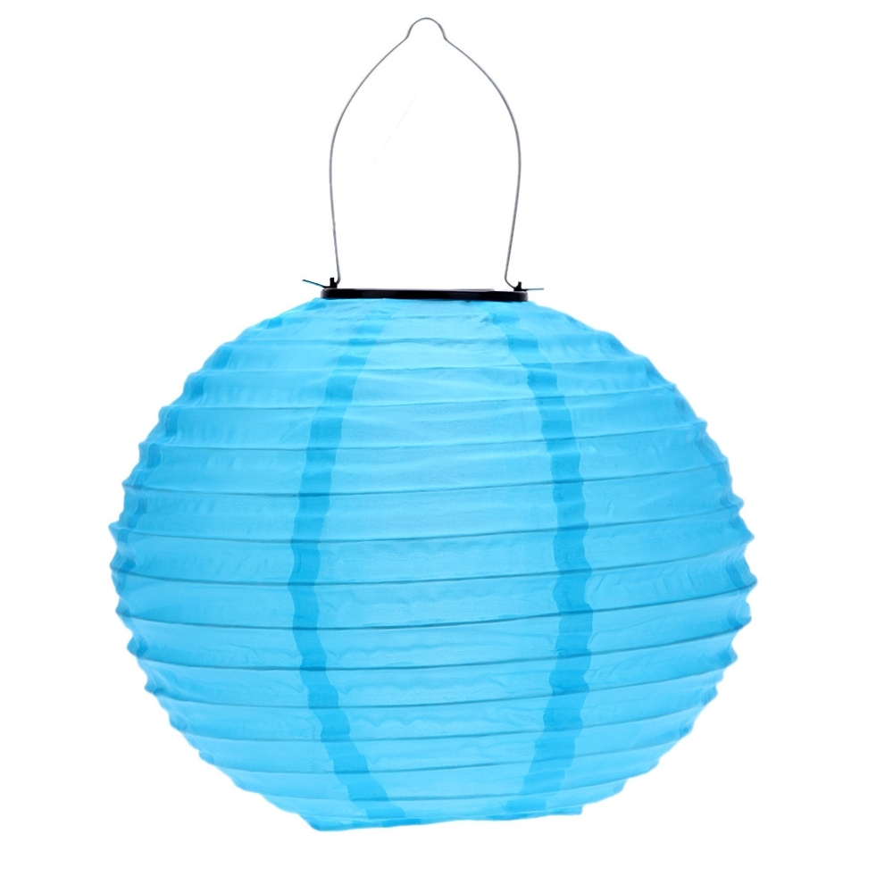 Well Known Blue Outdoor Lanterns Intended For 10 Inch Blue Waterproof Solar Lantern Outdoor Garden Led Chinese (View 15 of 20)